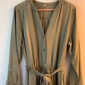 Old Navy olive green jumpsuit, NWOT, size L